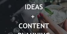 Blog posts ideas + content planning / Blog posts ideas, brainstorming blog posts, blogging ideas, content plan, editorial calendar, writing prompts for business bloggers