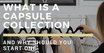 Capsule Wardrobes / capsule wardrobes, capsule collections, minimalism, conscious collections, living with less, frugal living, less is more, conscious fashion, slow fashion, minimalistic wardrobe