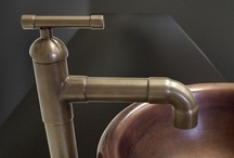 Brut Designer Faucets / The Brut is reminiscent of our wine-country heritage and, in the Sonoma Forge tradition, brings a strong, muscular presence to your bath or kitchen. The Brut can come in different heights to be used as a bathroom lav or tub filler and can be paired with a side spray for use in the kitchen. Available in rustic copper, rustic nickel, satin nickel, pizzazz nickel or oil-rubbed bronze, as well as a dazzling variety of special order finishes. There are also a variety of spouts to choose from.
