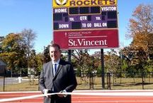 Catholic High School Track / Catholic High School for Boys dedicated its new track and named it in honor of the city's oldest Catholic health care institution, Thursday, November 7 during a news conference at the school.