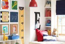 Playrooms / Fun playroom ideas: organization tricks, colorful artwork, themes, etc.