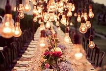 Romantic Weddings / So many elements to consider in creating a romantic wedding. Everything from choosing one of these amazing romantic wedding dresses to exchanging romantic wedding vows. Lot's of twinkle lights, soft wedding flowers and candles. The wedding of your dreams.