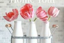 Joyful Spring Home Tour 2017 / A collection of photos from our homes decorated for Spring!