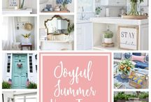 Joyful Summer Home Tour / A collection of photographs from our bloggers Summer Home Tour 2017