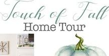 Touch of Fall Home Tour / A compilation of photos from our homes decorated for Fall.