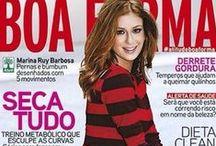Revista Boa Forma / Matérias, Capas e Editoriais para Revista Boa Forma por Marco Antônio de Biaggi e Equipe MG Hair Design