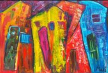Art, light, cities and slums / Art by Makeda Bezuneh ©
