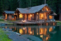 Homes - Forest / Lakeside Cabin / A tranqual setting, waters flowing, wind breezing through the trees, sun baking down ~ That's Life in nature. / by Delicate Elegance Events