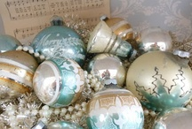 Christmas in Turquoise Teal and Tinsel