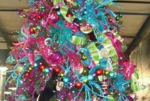Christmas in pink,teal and green