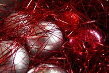 Christmas in red and silver