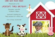 Farmyard b-day party