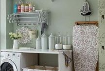 Laundry Room Ideas / I spend a lot of time in the laundry room--why not make it prettier and way more efficient?