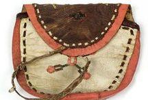 Folkloric, tribal leather art.Nomads.  - Bőr tárgyak a nagyvilágból
