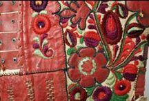 Hungarian folkloric leather art