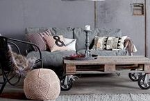 style: Industrial / Represents an appreciation for materials and objects with a connection to utilitarian/mechanical form and function.  Gritty, humble, salvaged, hardworking.