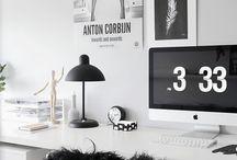 Arbeitsplatz / Home office und Arbeitsplatz Einrichtung