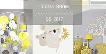 baby's room: giulia / #nursery #design #children #interior #trend #inspiration #décor #yello #grey #stripes #moodboard #palette