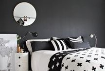 Master Bedroom: Scandinavian Modern / A bedroom with Scandi touches and traditional meets modern esthetic.