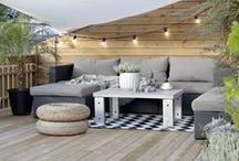 Backyard: Urban Escape / Inspiration for landscape and outdoor design for an urban backyard, with a light, breezy twist.