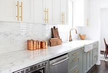Kitchen: Modern + Industrial + Traditional / Design inspiration for a kitchen in a converted storefront. A little bit modern, a little bit traditional, and a little bit industrial.