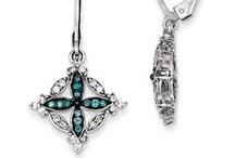 Blue Diamond Jewelry Blue Diamond Earrings Blue Diamond Rings Blue Diamond Pendants / by Gemologica