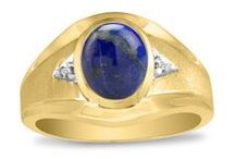 Mens Lapis Rings / Men's Lapis Rings From Gemologica.com. Let us help you find the perfect men's lapis ring! Our lapis lazuli rings for men are crafted of .925 sterling silver, 10K and 14K yellow gold and white gold, and are tastefully accented with diamonds.