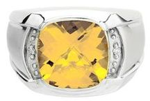 Mens Citrine Rings / Men's Citrine Rings From Gemologica.com. Let us help you find the perfect men's citrine ring! Our citrine rings for men are crafted of .925 sterling silver, 10K and 14K yellow gold and white gold, and are tastefully accented with diamonds.