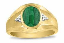 mens malachite rings / Men's Malachite Rings From Gemologica.com. Let us help you find the perfect men's malachite ring! Our men's malachite rings are crafted of .925 sterling silver, yellow gold, white gold, and are tastefully accented with diamonds.