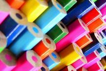 """Color Me Happy / """"The purest and most thoughtful minds are those which love color the most. """" ― John Ruskin"""