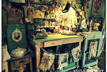 as seen around Lemoncholy's Studio / come see my funky studio and home decor, an environment infused with art in every corner and outdoors too!