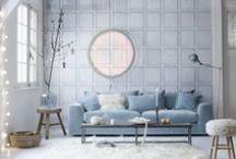 Bleu ciel / #interiors #décoration #déco #home #decoration #maison #casa  #homedecor #design #art #architecture #packaging #pattern #motif #couleur #color #pastel #blue #bleu #azul