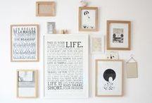 Murs / #wall #decor #mur #deco #decoration #murale #interiordesign #design #cadre #gallery  #accumulation #miroir #mirror #stickers #lettres #letters #pared