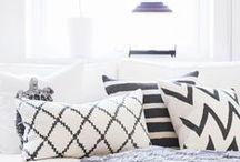 Noir et blanc / #noir #blanc #design #deco #interieur #interior #homedecor #black #white