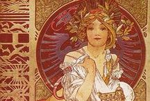 Art Nouveau Illustration / 1890s - 1910s. Late Victorian to Edwardian nouveau illustrations.