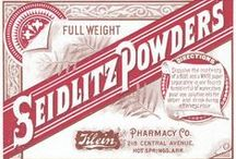 Vintage Pharmacy Packaging / A collection of vintage pharmacy packaging (labels, envelopes, cartons, etc.) from early in our history when we were suppliers to independent drug stores. Great visual inspiration for those who are interested in old-world apothecary and vintage packaging.