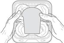 Labels with hands Illustrations / Illustrations of hands with various label types.