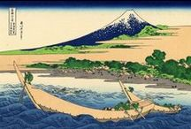 Ukiyo-e Scenery / Japanese woodblock print - landscapes & scenery. / by Vera Ma