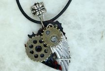 Emre Ozkose / Handmade Steampunk/ industrial  & Epic fantasy Guitar Necklaces & Earrings