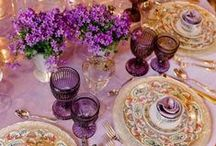 Purple Passion...Touched by Time Vintage Rentals / We are here to help make your dreams come true...Come check out our Vintage Rentals & Event Styling on Instagram @touchedbytime Follow us on Facebook Touched by Time Vintage Rentals