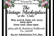 The Vintage Marketplace...Touched by Time Vintage Rentals / Voted one of the best flea markets across the nation...The Vintage Marketplace is held every three months in Temecula Ca...Great unique vintage items for your wedding venue...Next show March 11th and 12th 2016 starting at 9am. Follow TVM on facebook... Come check out our Vintage Rentals & Event Styling on Instagram @touchedbytime