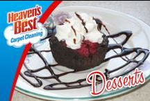 Desserts / If you are having a dinner party and cannot fit all of your guest around a table and they have to eat with their plate on their lap, that is cause for disaster. Make sure you have Heaven's Best Carpet Cleaning phone number right at hand to clean up your upholstery after the party. 920-467-3239