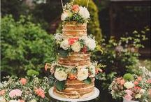 Naked Cake...Touched by Time Vintage Rentals / We are here to help make your dreams come true...Come check out our Vintage Rentals & Event Styling on Instagram @touchedbytime Follow us on Facebook Touched by Time Vintage Rentals