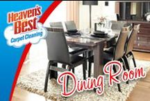 Dinning / If you have upholstered dinning room chairs Heaven's Best can easily clean those for you. While your at it have them clean all the upholstery in your home. Call Butch Graf in the Sheboygan WI area. 920-467-3239