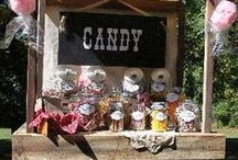 Candy Bar...Touched by Time Vintage Rentals / We are here to help make your dreams come true...Come check out our Vintage Rentals & Event Styling on Instagram @touchedbytime Follow us on Facebook Touched by Time Vintage Rentals