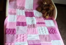 """Knitting / I love to kit! At the moment I'm knitting lots of baby blankets with interesting patterns in each """"block"""". But there are also some other knitting projects..."""
