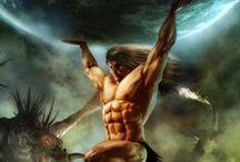 Mythes et légendes / Voici quelques personnages mythiques, de cerbère, à Atlas en passant par Méduse.