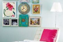 Inspired Art Walls / Artwork installation, framing ideas & gallery walls - get inspired!
