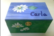 CAJAS / Cajas de madera ó cartón, decoradas artesanalmente. Pintadas con acrílicos, óleo y barnizadas.