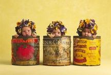 Vintage  Tins / I love Vintage Tins as Decor in the Kitchen. It Gives a rustic, lived in feeling. / by KT Kretchmer